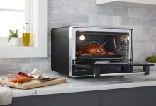 Photo of Modern cooking stove the air fryer toaster oven